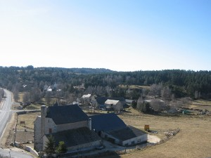 Hameau de Couffinet, commune de Sainte Colombe de Peyre.