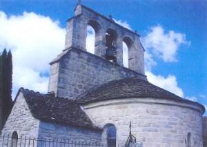 Clocher de l'Eglise de Sainte Colombe de Peyre.