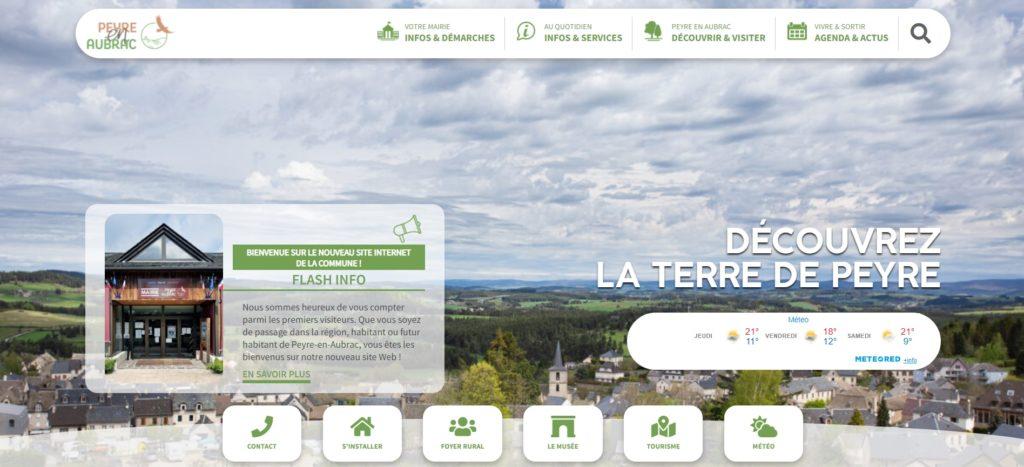Le nouveau site de Peyre en Aubrac.