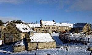 Photo de Sainte Colombe de Peyre sous la neige.
