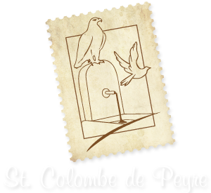 Blason-timbre de Sainte Colombe de Peyre.